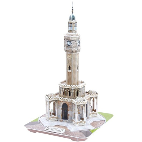 Cubic Cubic Fun 3D 61 Parça Puzzle İzmir Saat Kulesi Renkli